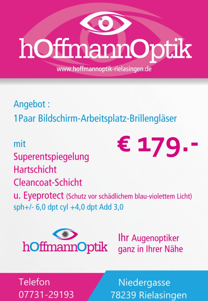 Ein Paar Bildschirm-Arbeitsplatz-Brillengläser für 179 Euro