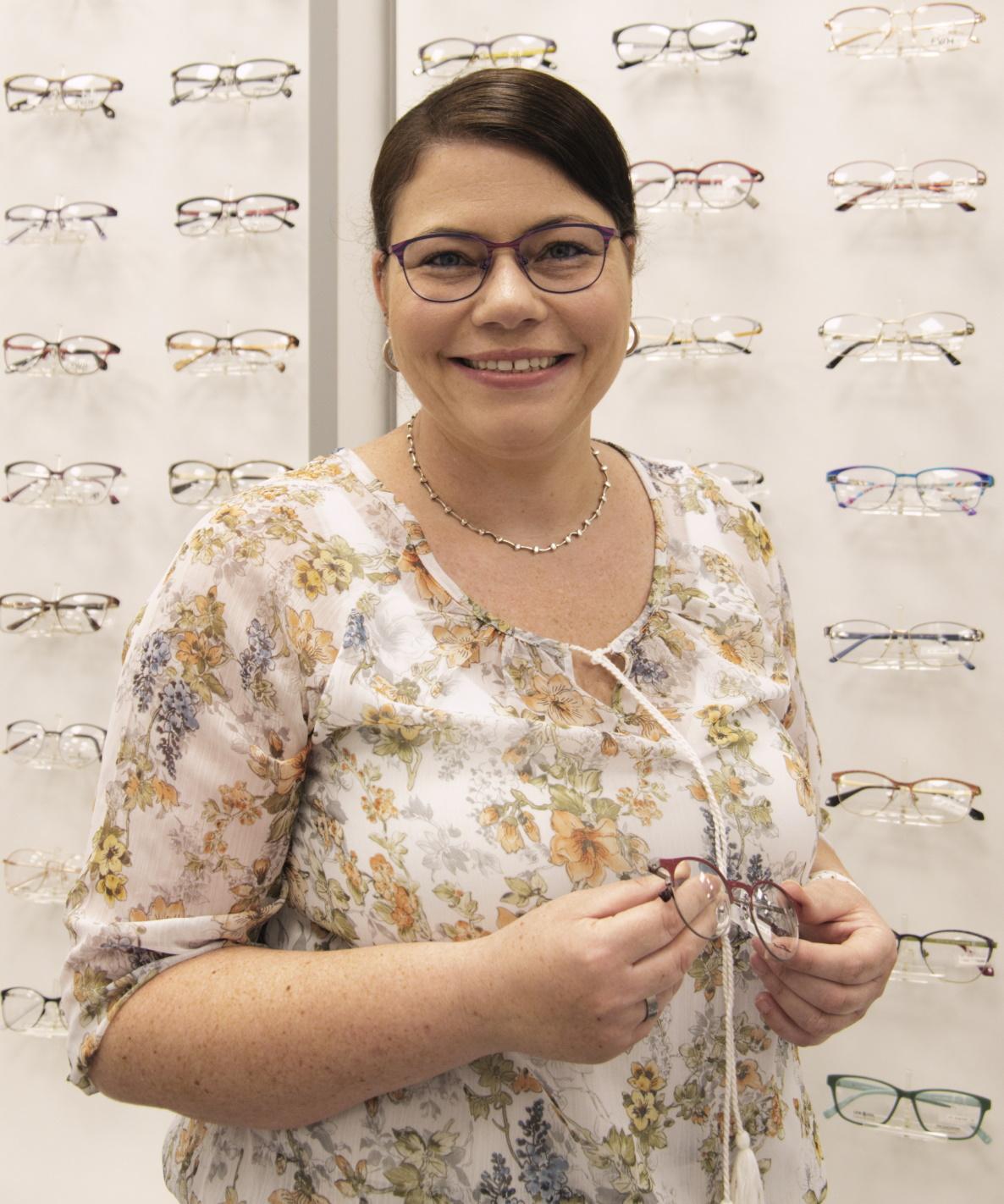 Frau Amann Augenoptikerin